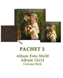 Pachet 2 Wedding Forever (2 albume foto si carcasa stick)
