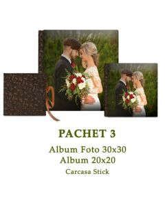 Pachet 3 Wedding Perfection (2 albume foto si carcasa Stick)