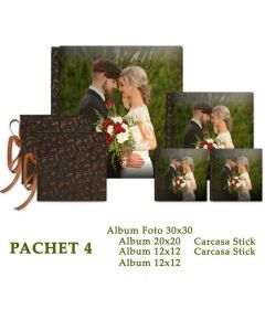 Pachet 4 Amazing Wedding (4 albume foto si 2 carcase Stick)