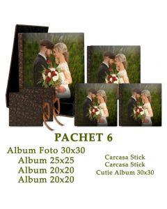 Pachet 6 You and Me (4 albume foto, cutie album si 2 carcase stick)