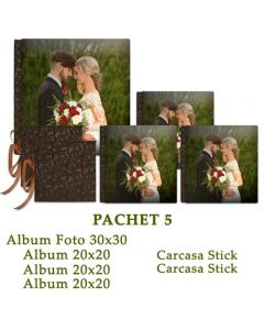 Pachet 5 Special Moments (4 albume foto si 2 carcase stick)