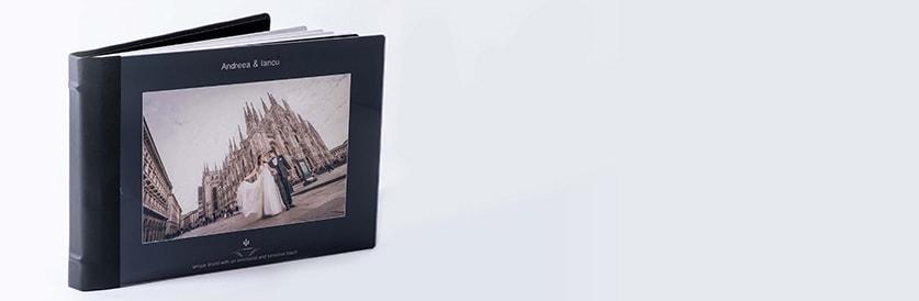 Album foto realizat cu finisaje luxuriante si cu materiale de cea mai buna calitate